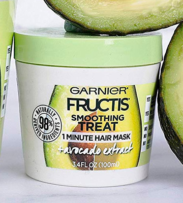 Review of Garnier 3.4 Fl Oz Fructis Smoothing Treat 1 Minute Hair Mask with Avocado Extract