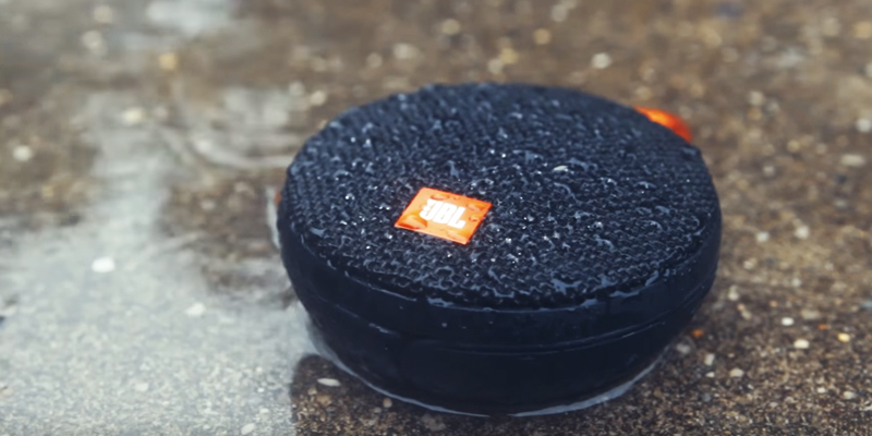 JBL Clip 2 Waterproof Portable Bluetooth Speaker in the use