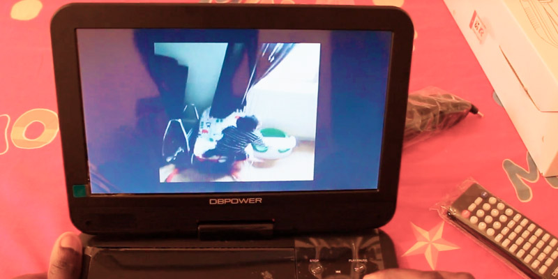 DBPOWER MK101 Portable DVD Player in the use