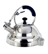 Willow & Everett 2.75 Quart Whistling Teapot with Capsule Bottom and Mirror Finish