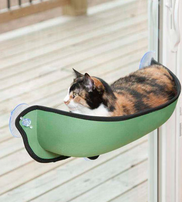 Review of K&H Pet Products Kitty Sill Window Bed EZ Mount (27 x 11 x 6)