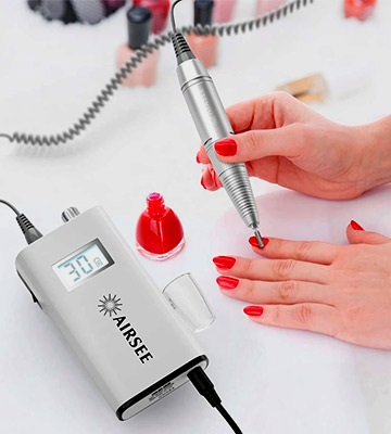 Review of AIRSEE Rechargeable 30000RPM Electric Nail Drill Professional Portable E File Machine