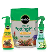 Miracle-Gro Indoor Potting Mix Indoor Plant Food & Leaf Shine