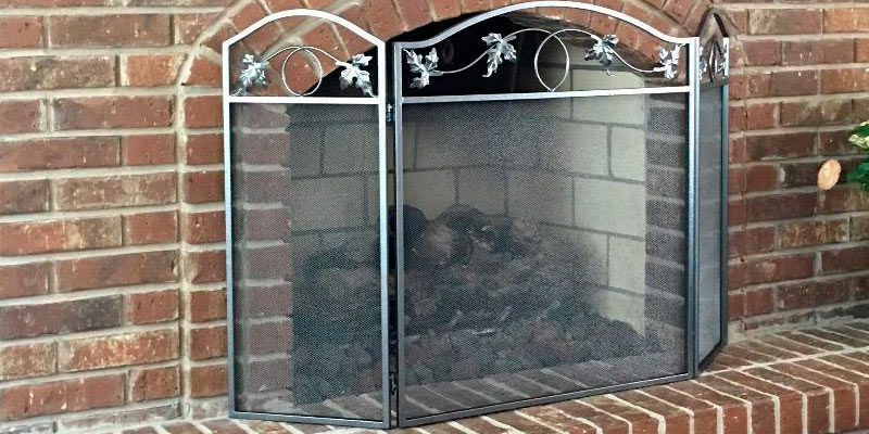 Review of Amagabeli Garden & Home S38259SK 3 Panel Pewter Wrought Iron Fireplace Screen