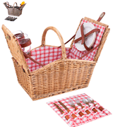 Picnic Time Piccadilly Willow Picnic Basket for Two People