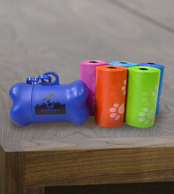 Review of Downtown Pet Supply 180-RainbowPaws Dog Pet Waste Poop Bags With free bone dispenser