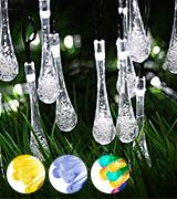 GDEALER Solar Outdoor String Lights