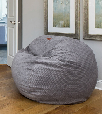 Review of CordaRoy's FC-CH-CH Chenille Bean Bag Chair, Charcoal, Full