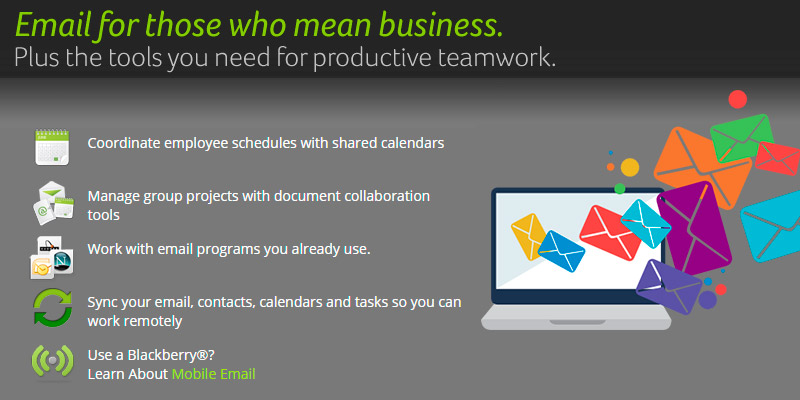Network Solutions Professional Email in the use