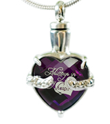 "Infinity Keepsakes ""Always in my Heart"" Cremation Urn Necklace"