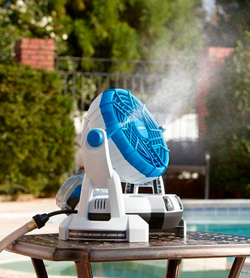 Review of Arctic Cove MBF0181 Bucket Top Misting Fan (18-Volt Battery Powered)