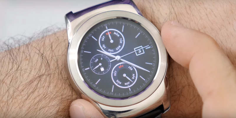 LG W150S Watch Urbane Wearable Smart Watch in the use