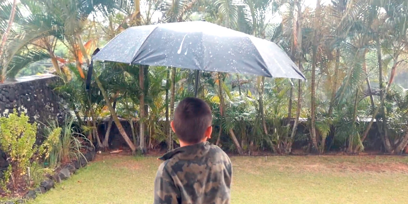 Review of Anntrue Windproof Travel Umbrella with Teflon Coating