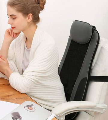 Review of Sotion Shiatsu Deep Kneading Rolling Vibration Massage Chair Pad
