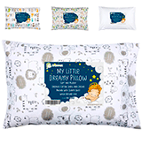 KeaBabies Toddler Pillow with Pillowcase - Soft Organic Cotton Baby Pillows
