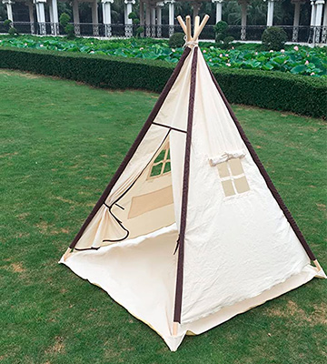Review of Lavievert Indian Canvas Teepee Children Playhouse Tent