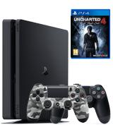 Sony PlayStation 4 Slim 500GB Uncharted 4 + Extra Controller Bundle