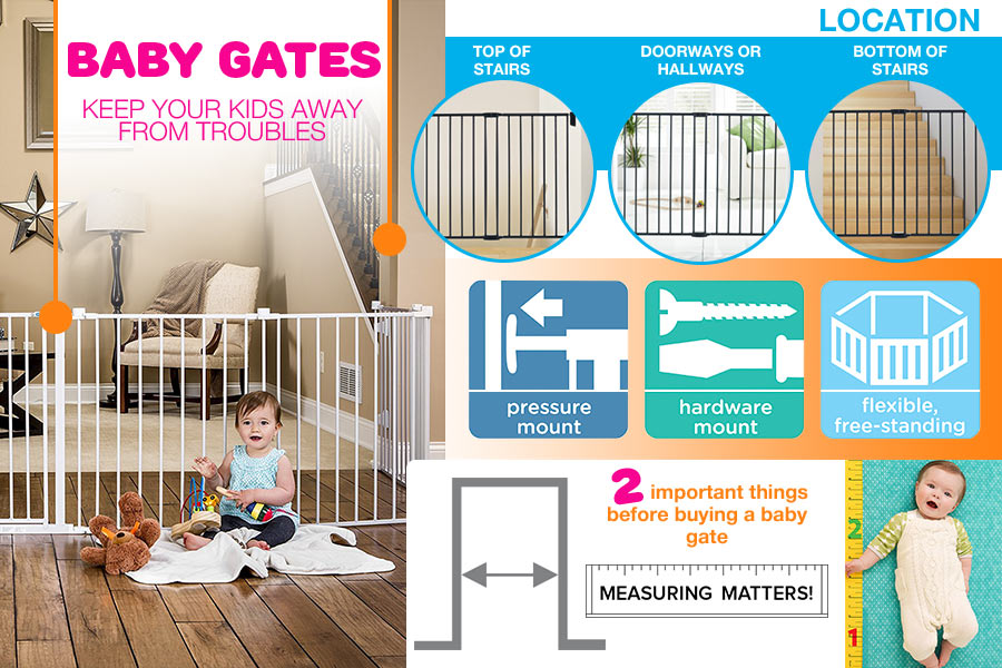 Comparison of Freestanding and Retractable Baby Gates