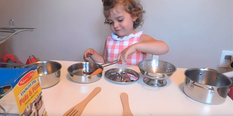Review of Melissa & Doug Stainless Steel Pots and Pans Playset for Kids