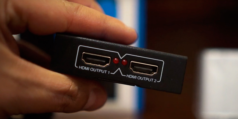 OREI HD-102 HDMI Powered Splitter in the use