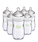 NUK (9oz 6-Pack) Plastic Simply Natural Baby Bottles