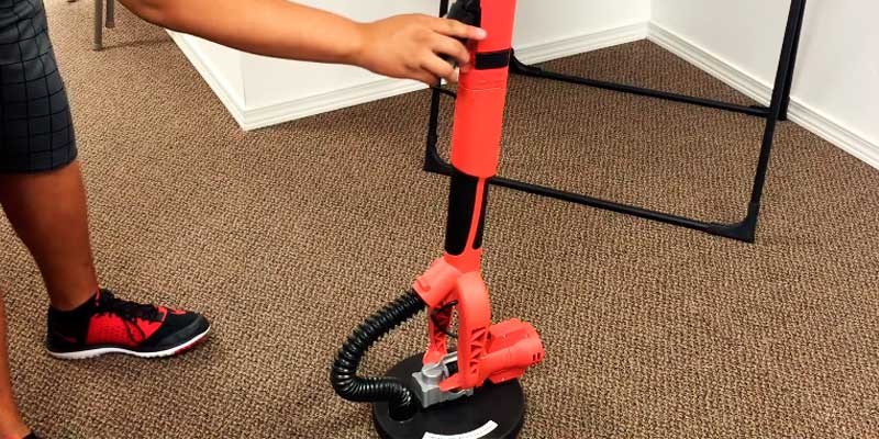 ALEKO Electric Variable Speed Drywall Sander in the use