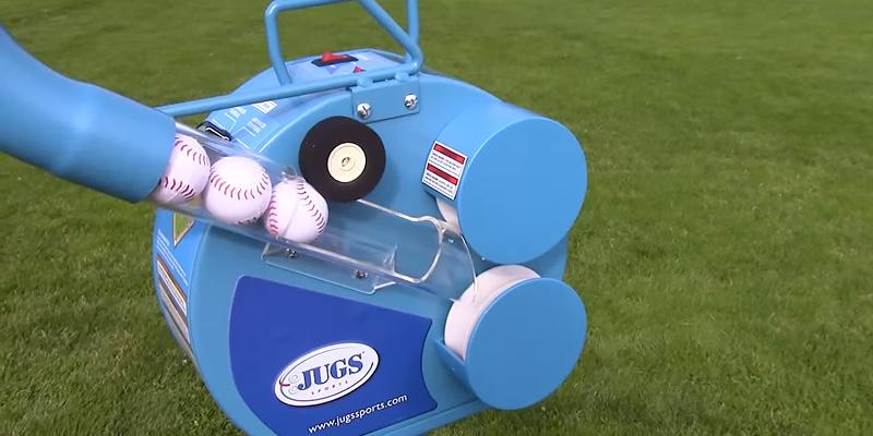 Jugs Small-Ball Pitching Machine in the use
