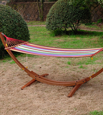 Review of BestChoiceproducts Wooden Curved Arc Hammock Stand