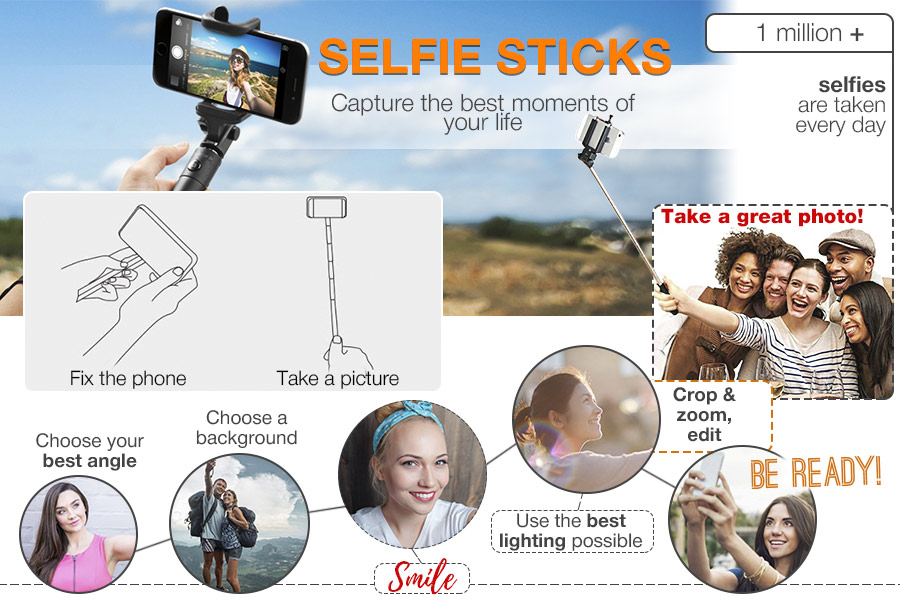 Comparison of Selfie Sticks to Capture the Best Moments