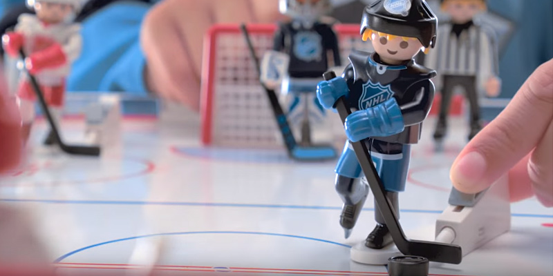 PLAYMOBIL NHL Hockey Arena Playset in the use