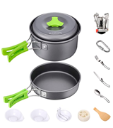 G4Free 4/13 Piece Camping Cookware Mess Kit