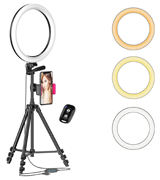 Aptoyu 12 Selfie Ring Light with Tripod Stand