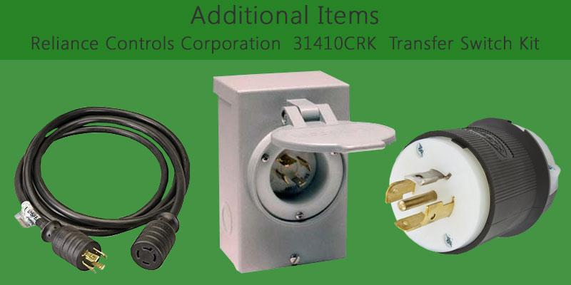 Reliance Controls Corporation 31410CRK Transfer Switch Kit application