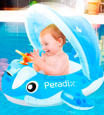 Review of Peradix Inflatable with Canopy Baby Pool Float