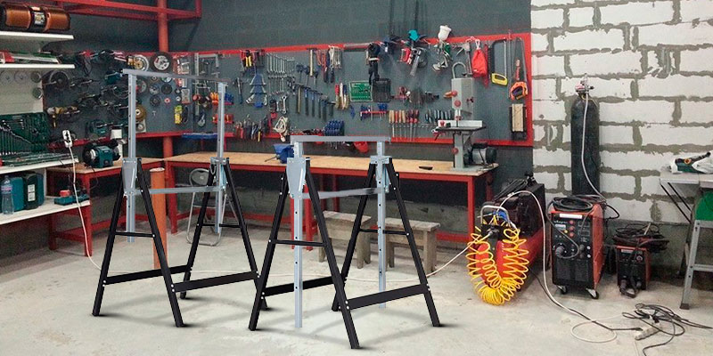 Review of Goplus Folding Sawhorse Pair Heavy Duty 2-Pack Saw Horses