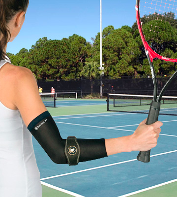Review of DashSport Tennis Elbow Brace Copper Compression Elbow Sleeve