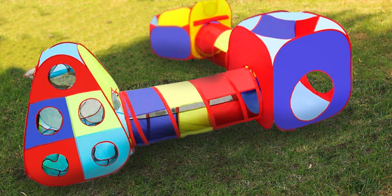 Review of Playz 5pc Kids Playhouse Jungle Gym w/ Pop Up Tents, Tunnels, and ball Pit