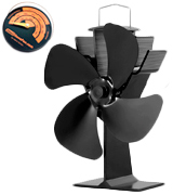 GALAFIRE N429 Wood Stove Fan with Stove Thermometer