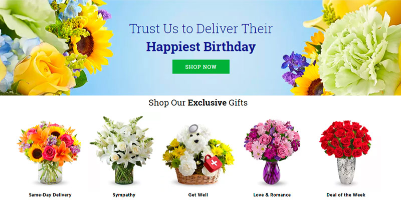 1-800-Flowers Fresh Flowers Online in the use
