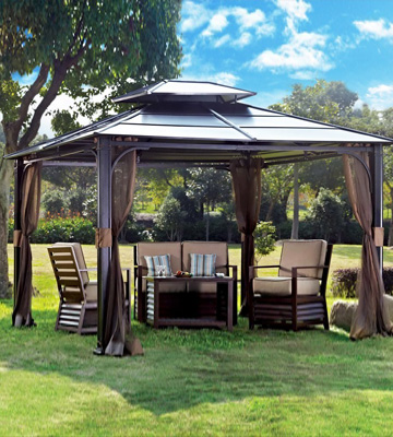 Review of Sunjoy Chatham Gazebo 10'x12' Steel Hardtop