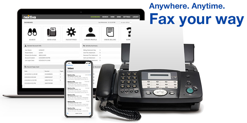 Nextiva Online Fax Service in the use