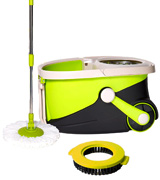 Mopnado Deluxe Spin Mop Stainless Steel with 2 Microfiber