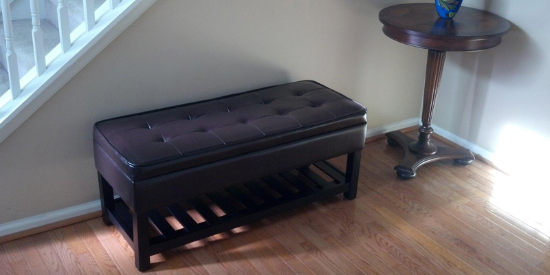 Review of Simpli Home Ottoman Bench for Storage