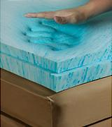 "Memory Foam Solutions 2"" Gel Mattress Topper"
