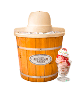 Nostalgia Electrics ICMP400WD Electric Wood Bucket Ice Cream Maker