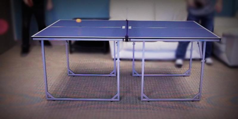 JOOLA Midsize Table Tennis Table in the use