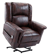 Esright Recliner Power Lift Chair Electric Recliner PU Leather Heated Vibration