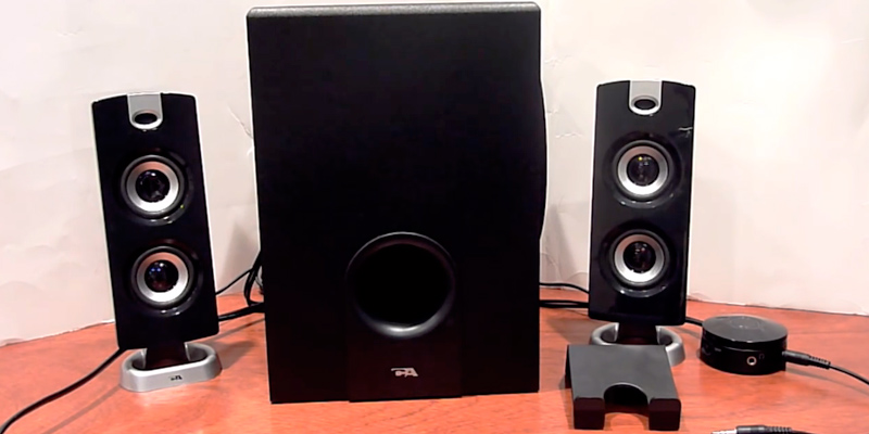 Detailed review of Cyber Acoustics CA-3602 Speaker Sound System with Subwoofer and Control Pod
