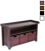 Winsome Wood Storage Bench with Storage Shelf and Rattan Baskets  sc 1 st  BestAdvisor & 5 Best Storage Benches Reviews of 2018 - BestAdvisor.com
