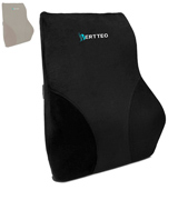 Vertteo VPP-BB Full Lumbar Black Support Premium Entire High Back Pillow for Office Desk Chair and Car Seat